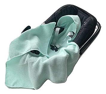 universal z.B Leichte Baby Decke f/ür Autositz aus Waffelstoff und Baumwolle f/ür den Sommer und Fr/ühling Maxi Cos Marineblau EliMeli Einschlagdecke f/ür Babyschale 100/% Baumwolle