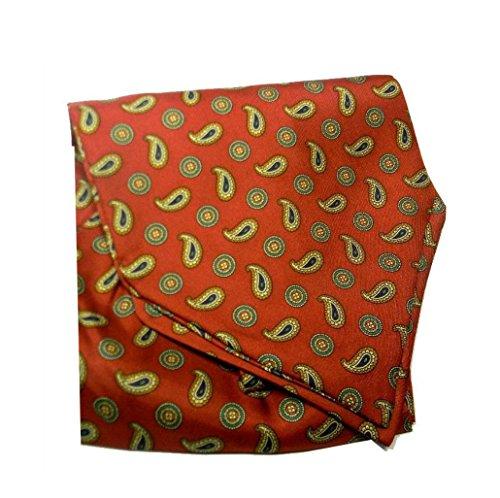 15f0da5c9a Scuro Silk Ascot Seta Uomo Italy Interni Cashmere Cashecol Rosso Beige  Stampata Made Disegni Foulard Di Yqw7vxv