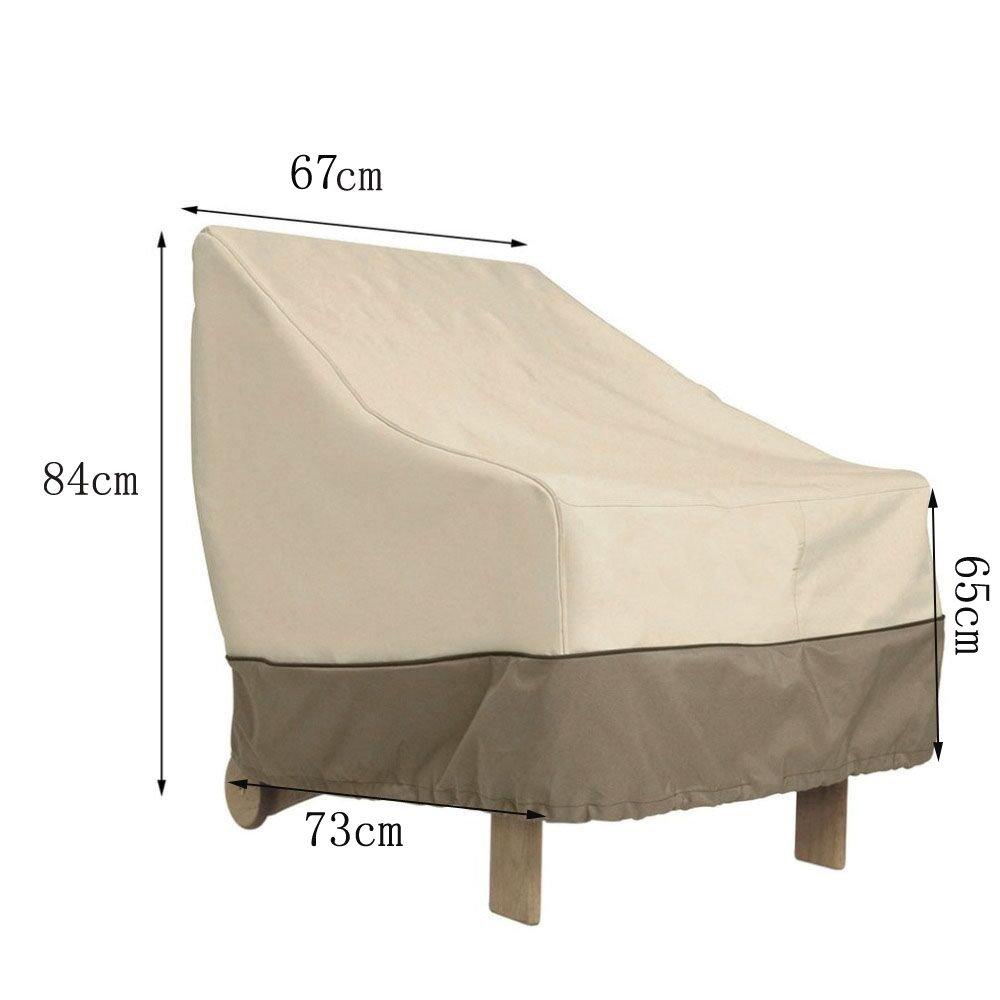 Amazon com elevavie patio stackable chair cover waterproof protective cover for outdoor and garden furniture garden outdoor