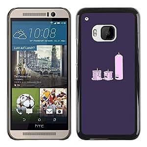 Stuss Case / Funda Carcasa protectora - Candle Light Dat E- Funny - HTC One M9