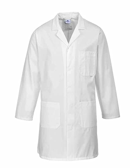 Delantal Bata de laboratorio Bata de doctor Bata Abrigo - blanco XXS-5XL - Portwest
