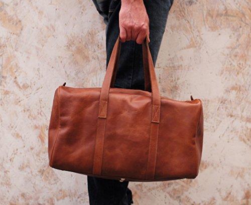 LE CABINE marrone borsa pelle vintage Borsa da viaggio PAUL MARIUS