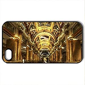 Golden Luxury - Case Cover for iPhone 4 and 4s (Watercolor style, Black)