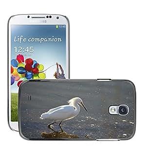 Just Phone Cover Etui Housse Coque de Protection Cover Rigide pour // M00139155 Egret nevado Pájaro Vadear // Samsung Galaxy S4 S IV SIV i9500