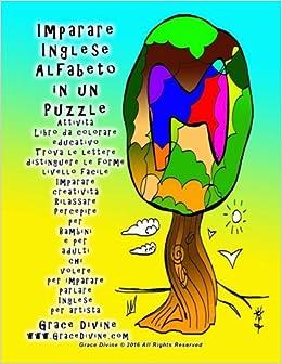 Amazonit Imparare Inglese Alfabeto In Un Puzzle Attività Libro Da