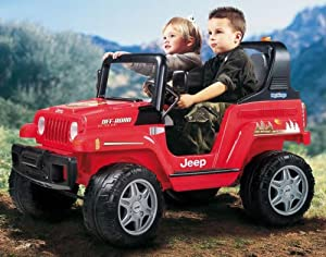 peg perego jeep 12v red toys games. Black Bedroom Furniture Sets. Home Design Ideas