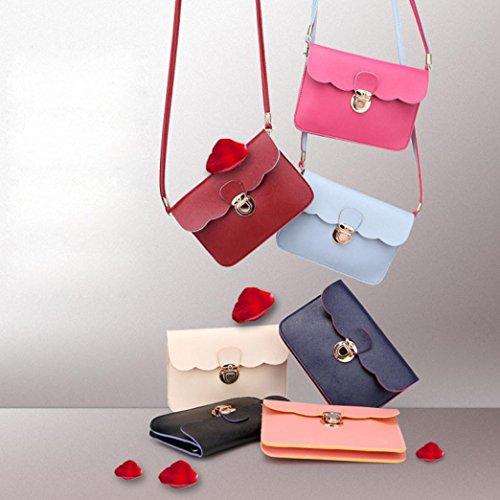 Clutch Messenger Hobo Bag Leather Women Shoulder Tote Handbag Blue Fahsion YfEZOE