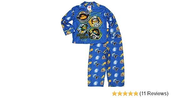 Amazon.com: Lego Nexo Knights Little Boys Flannel Coat Style Pajamas: Clothing
