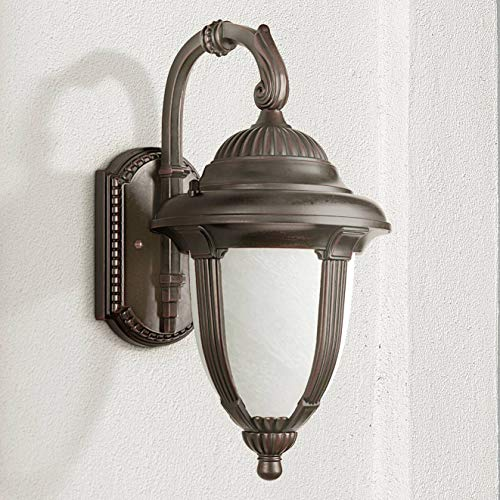 Casa Sorrento Traditional Outdoor Wall Light Fixture Bronze 18 1/2