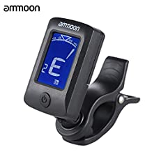 ammoon AT-07 Digital Electronic Clip-On Tuner LCD Screen for Guitar Chromatic Bass Ukulele C/ D Violin