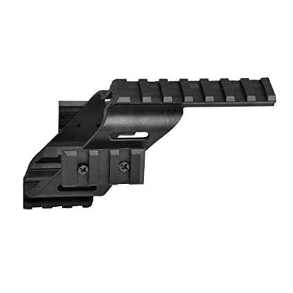 Higoo Universal Tactical Pistol Scope Sight Polymer Mount with Quad Weaver  Picatinny Rail for Glock 17 5 56 S&W/1911/Glocks/Walther p22/HKp30/SD9VE