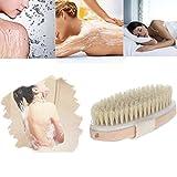 Chartsea Premium Natural Bristle Wooden Bath Shower Body Back Dry Skin Brush Spa (A)