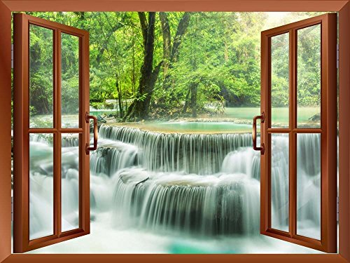 Waterfall in Thailand Removable Wall Sticker Wall Mural