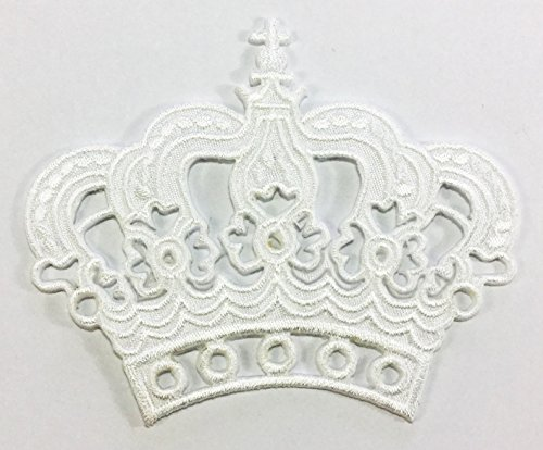 white-crown-diy-embroidered-sew-iron-on-patch-p39