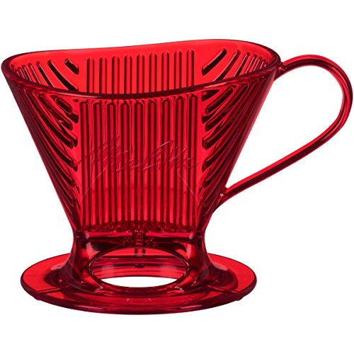 Melitta 64031 Signature Series Pour-Over Collection Coffee Maker, 1 Cup, Tritan Red -
