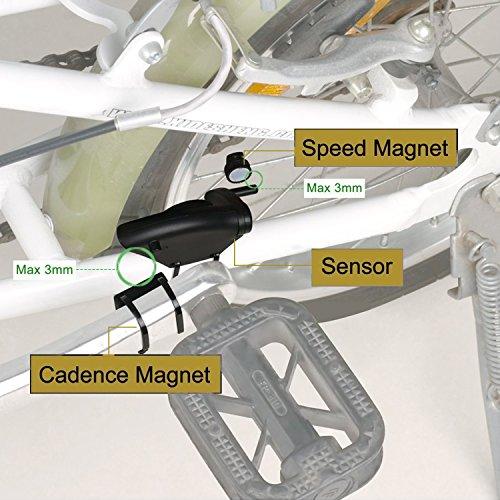 Sospers Bike Computer Waterproof, Wireless Speedometer Cadence, Bicycle Odometer Multi-function Large Screen LCD Display by Speedrid (Image #3)