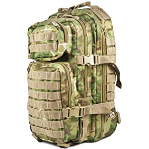 51ceXW5PpZL. SS300  - Army Tactical Assault Pack Military Rucksack Hiking MOLLE 20L Arid Woodland Camo, S