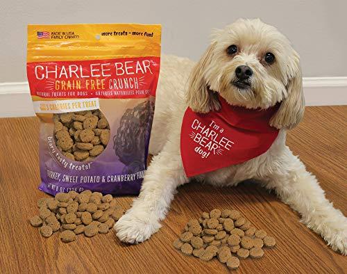 Charlee Bear Grain-Free Bear Crunch Turkey, Sweet Potato & Cranberry Flavor 8 oz