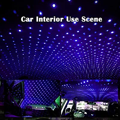 USB Car Roof Star Projector Light LED Interior Lamp, Romantic Decoration Laser Strip Night Atmosphere Ambient Light-for Car SUV Truck, Plug and Play (Violet Blue): Home Improvement
