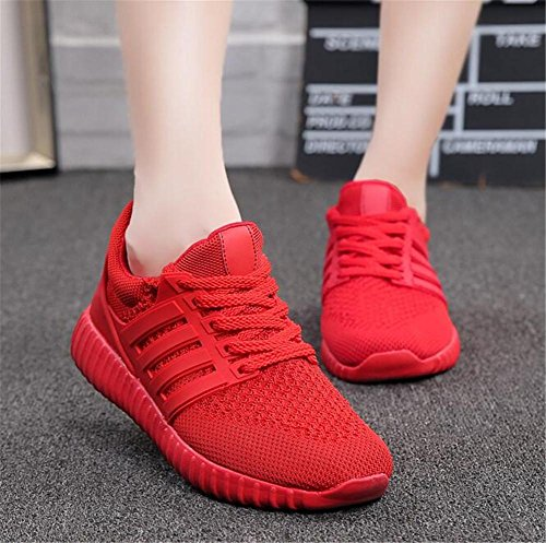 xie Women's Net Lady Running Shoes Mode Outdoor Leisure Cross Straps Shoes 9630 red 7jPkgs7P