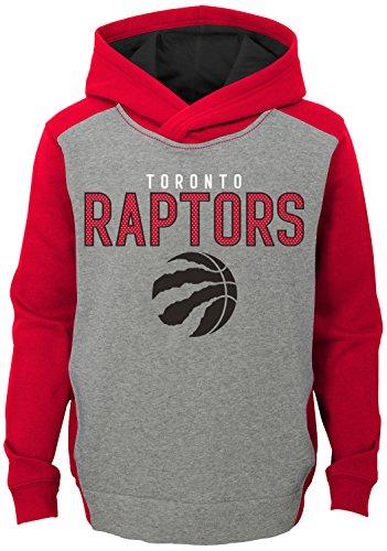 "NBA Kids & Youth Boys ""Fadeaway"" Pullover Hoodie Toronto Raptors-Grey Heather-M(10-12)"