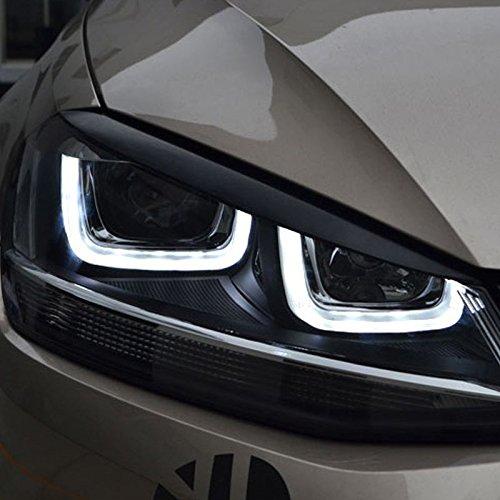 Gol7eye Front Headlights Eyebrows Black Glossy Mk7 VII GTI GTD GB8R1