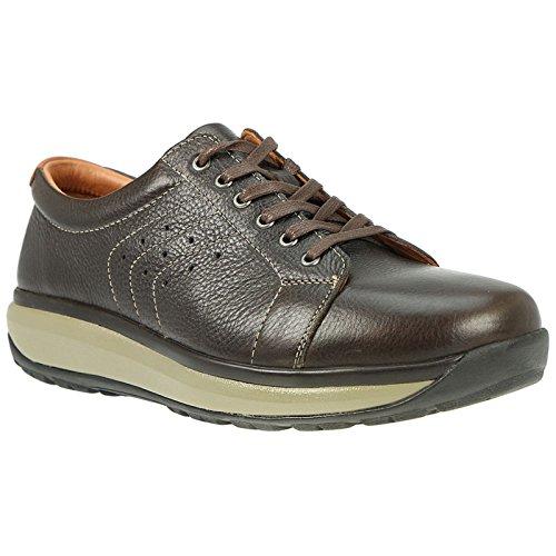 JOYA Mens Caesar Chocolate Leather Shoes 8.5 US