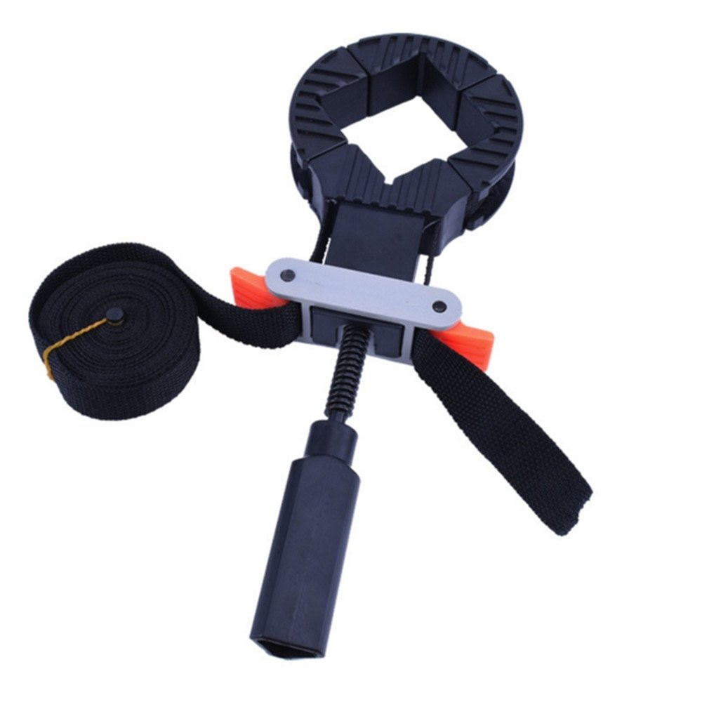 DR. Machinist 11 Inch Removable 90 Degree Right Angle Corner Holder Clamp with 13 Feet Long band, Quick-Release Levers