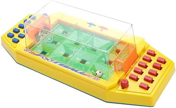 Bicaquu Juguete de futbolín, Juguete de futbolín de Escritorio Interactivo Juegos de fútbol de Mesa para 2 Jugadores Juguete Educativo temprano(Amarillo): Amazon.es: Deportes y aire libre