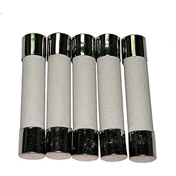 T20A 250 V Céramique Fusibles 6X30mm MDA 20 A USA!! T20 H250V 5x T20AH250V