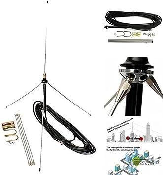 C & C Products Cable de 15 m potente antena GP 1/4 de ...