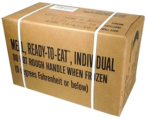 1. MREs (Meals Ready-to-Eat) Box B, Genuine U.S. Military Surplus, Menus 13-24