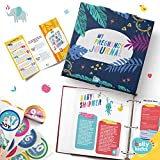Weekly Pregnancy Journal with 40 Milestone Stickers, 120 Pages That Can Be Rearranged, Baby Memory Books and Journals Make Great Gifts for First Time Moms! Book Comes in A Binder and Keepsake Box
