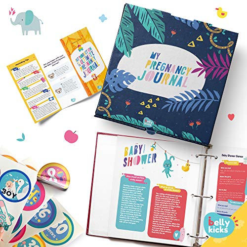 Weekly Pregnancy Journal with 40 Milestone Stickers, 120 Pages That Can Be Rearranged, Baby Memory Books and Journals Make Great Gifts for First Time Moms! Book Comes in A Binder and Keepsake Box ()