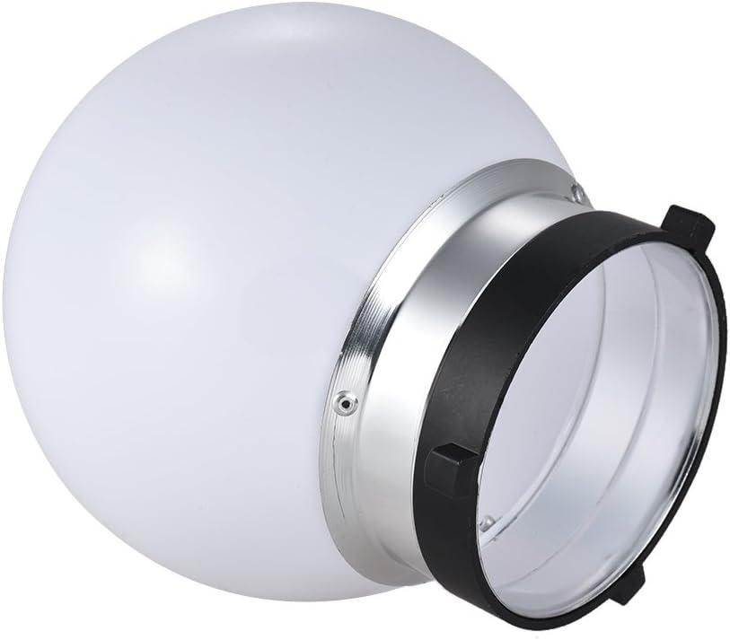 RuleaxAsi 6inch Spherical Monolight Diffuser Ball with Bowens S-Type Mount for Canon Nikon Yongnuo Metz Neewer Godox Studio Lighting Flash
