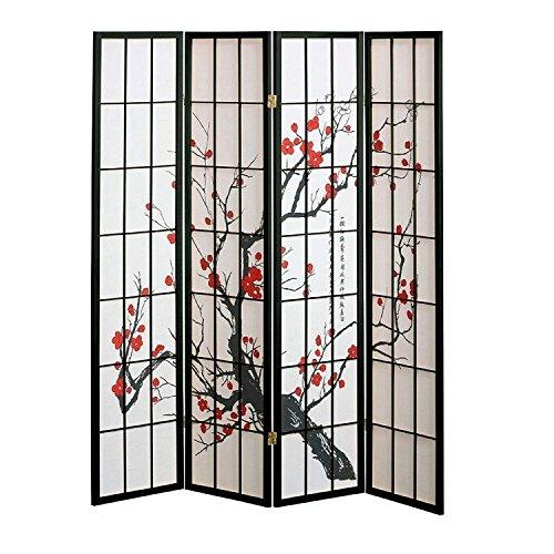 Designs Plum Blossom - Plum Blossom Screen Design 4 Panel