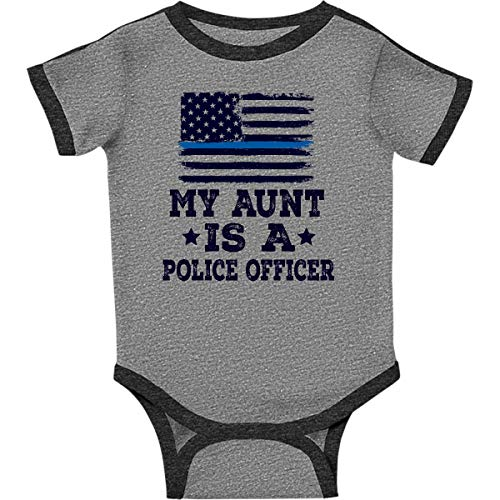 (inktastic - Aunt is A Infant Creeper 6 Months Ringer Heather and Smoke)