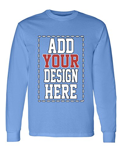 Custom Long Sleeve Shirts for Men - Make Your OWN Shirt - Add Your Design Picture Photo Text Printing -