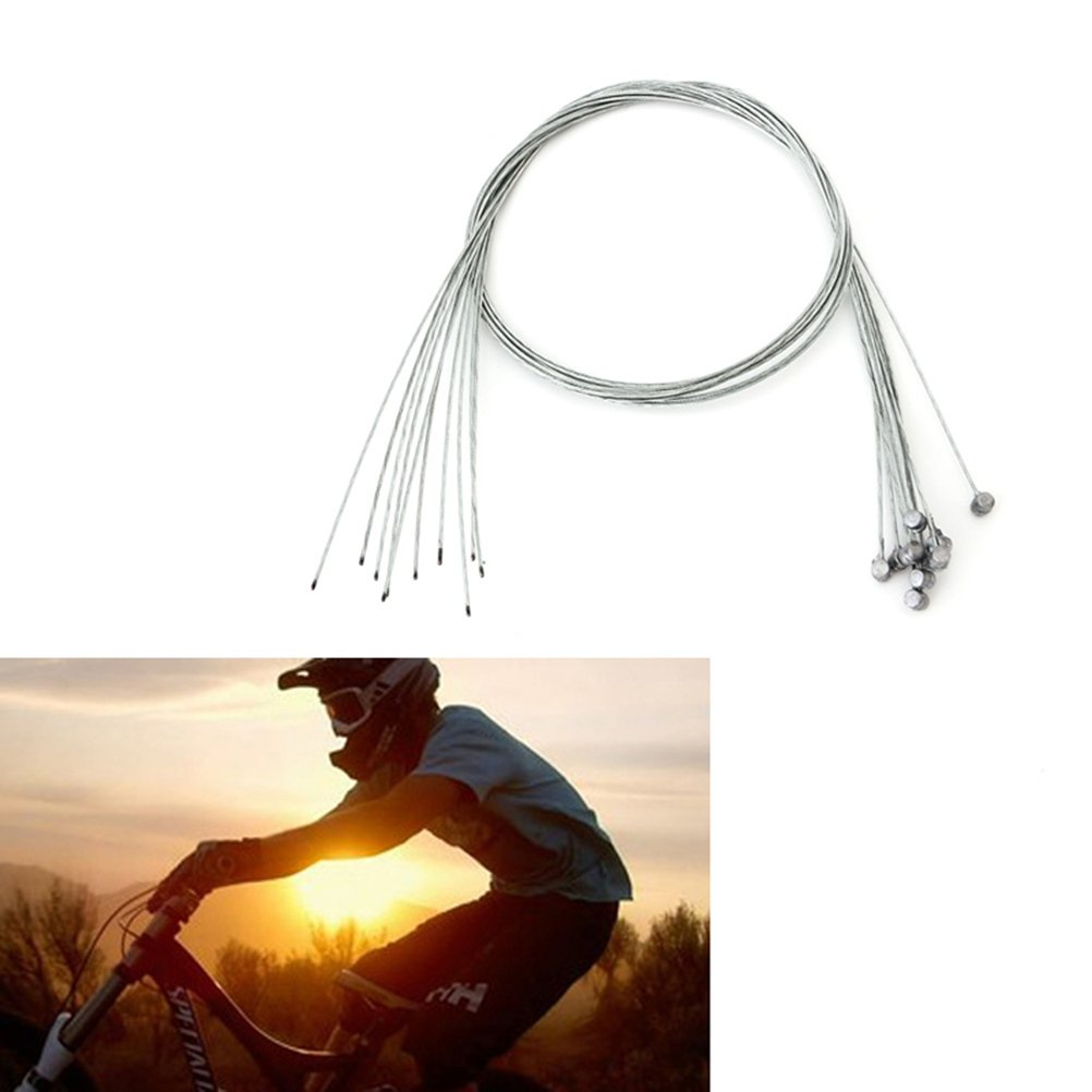 WINOMO 10pcs 2M Bycicle Bike Brake Wire Line Derailleur Cable