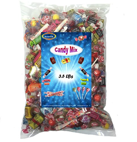 Assorted Candy Variety Mix 3.5 Lbs - Huge Party Mix Bulk Bag of: Smarties, Tootsie rolls, Jawbreakers, Rootbeer barrels, Goetze's caramel creams and More!