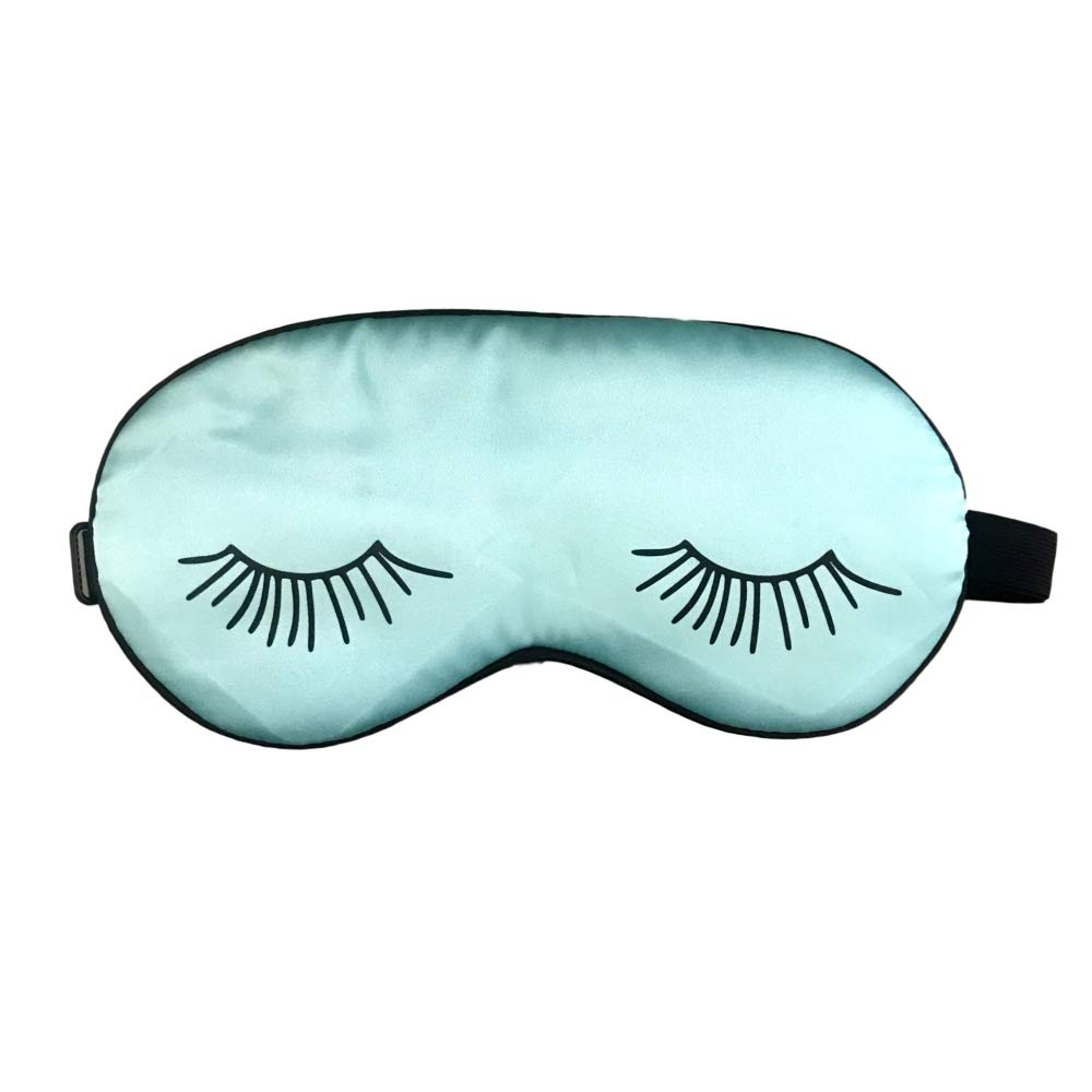 Aqua Slumber Silk Sleep Mask Eyelashes