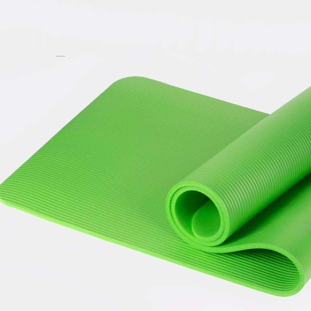 GGZZLL Yoga Mat Beginner Fitness 10mm Thickening Widened Men ...