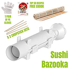 Sushi Bazooka – Sushi Making Kit – Sushi Maker – Sushi set – Sushi Maker Machine – Sushi gift set – Bazooka Sushi – Japanese Sushi Making Kit – Sushezi roller Prepare Sushi at Home