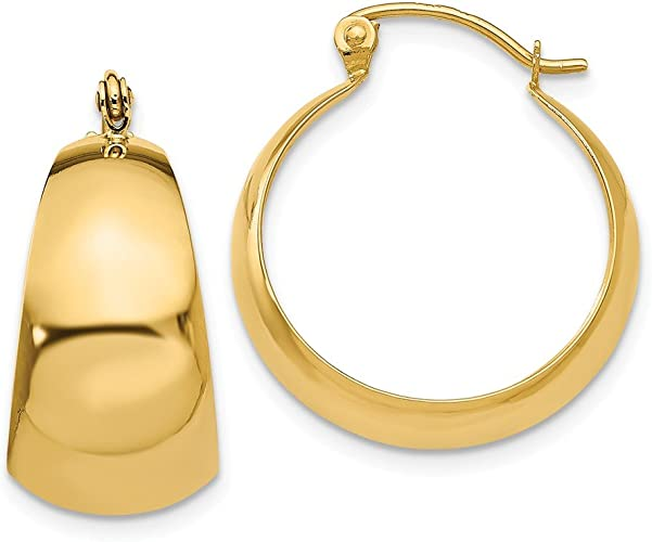 Mia Diamonds 14k Yellow Gold Polished 3mm Twisted Hoop Earrings