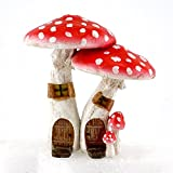Top Collection Miniature Fairy Garden & Terrarium Cute Mushroom Houses with Pick Decor, Red, Small Review