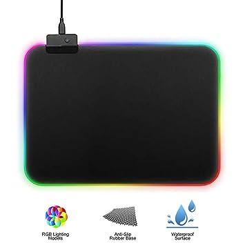 Alfombrilla de ratón para Videojuegos RGB Grande con 14 Modos y ...