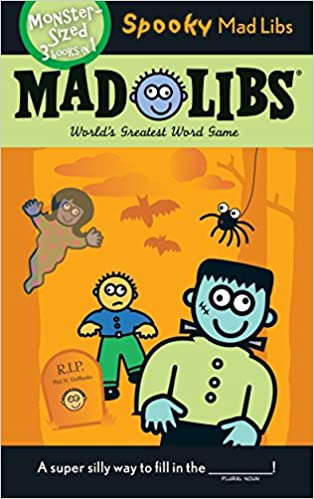 picture regarding Halloween Mad Libs Printable named Spooky Ridiculous Libs: Roger Expense, Leonard Stern: 9780843120363
