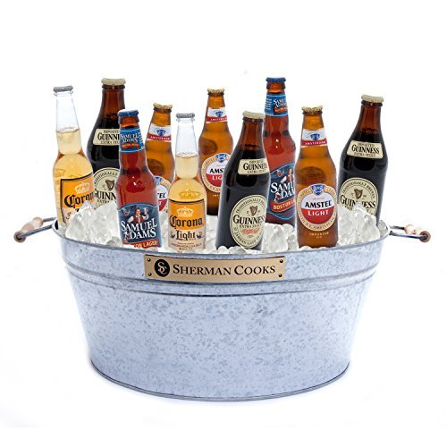galvanized party ice bucket to cool beer  wine  champagne  water  soda  u0026 juice  large metal