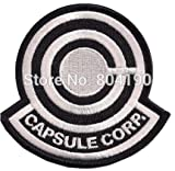 "Art and Craft Supply - 3.5"" Dragonball Z CAPSULE CORP Logo Classic Video Game TV MOVIE Costume Uniform Embroidered Emblem applique iron on sew on patch"