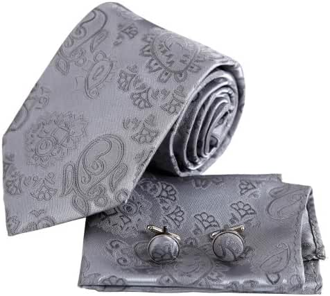 EAC1B03 Father Gift Idea Great Silk Multicolors Mens Necktie Gift Set By Epoint